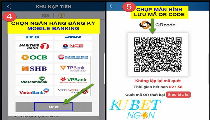 Nạp tiền kubet qrcode Mobile